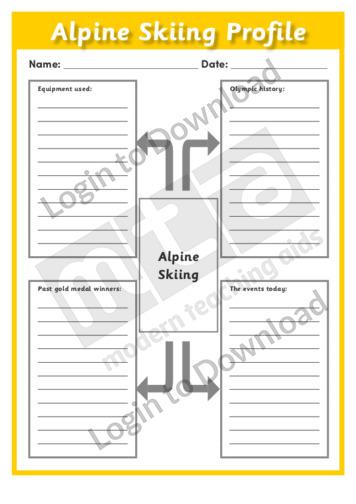 Alpine Skiing Profile