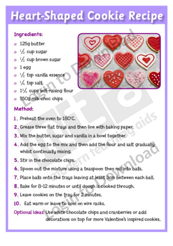 Heart-Shaped Cookie Recipe