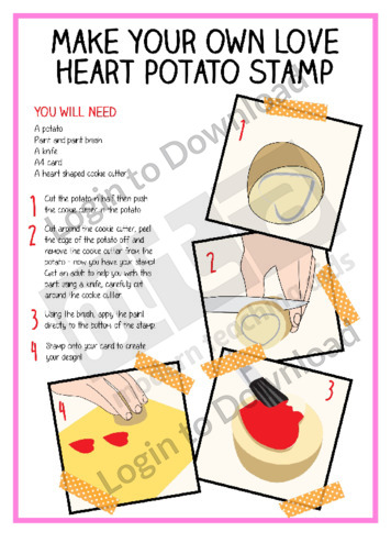 Make Your Own Heart Potato Stamp