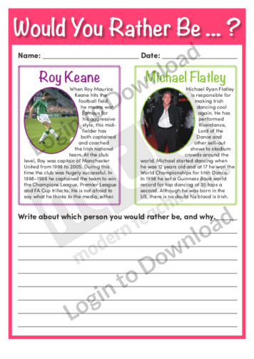 Would You Rather Be…? Roy Keane or Michael Flatley