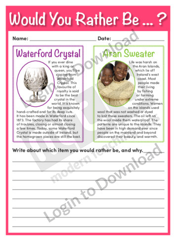 Would You Rather Be…? Waterford Crystal or Aran Sweater