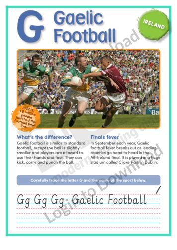 G: Gaelic Football
