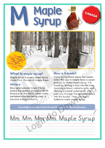 M: Maple Syrup