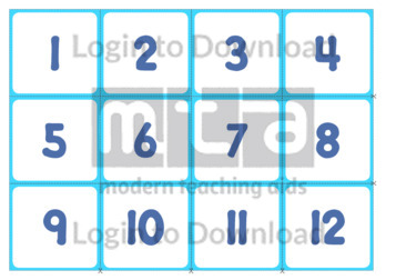 Numeral and Word Cards