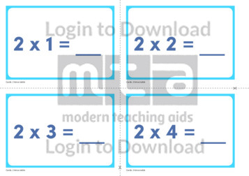 2 Times Table Cards