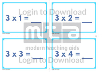 3 Times Table Cards