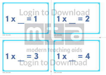 1 Times Table Missing Number Cards