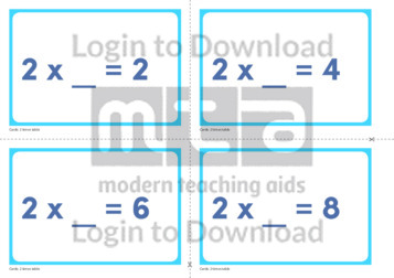 2 Times Table Missing Number Cards