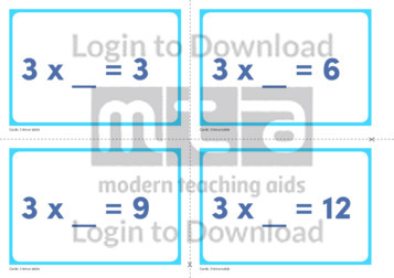 3 Times Table Missing Number Cards