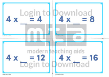 4 Times Table Missing Number Cards