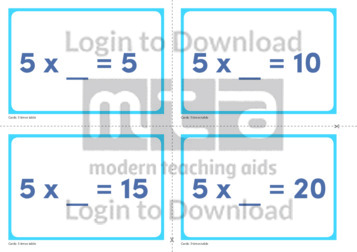 5 Times Table Missing Number Cards