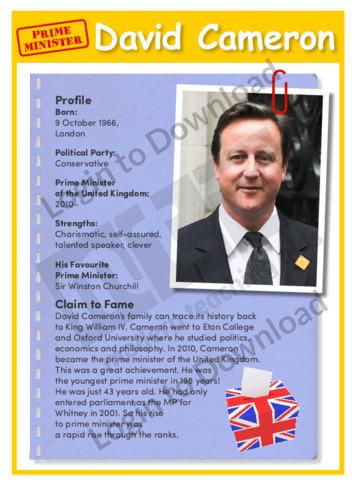 Prime Minister: David Cameron