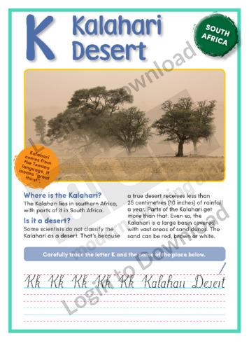 K: Kalahari Desert