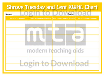 Shrove Tuesday and Lent KWHL Chart