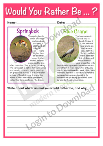 Would You Rather Be…? Springbok or Blue Crane