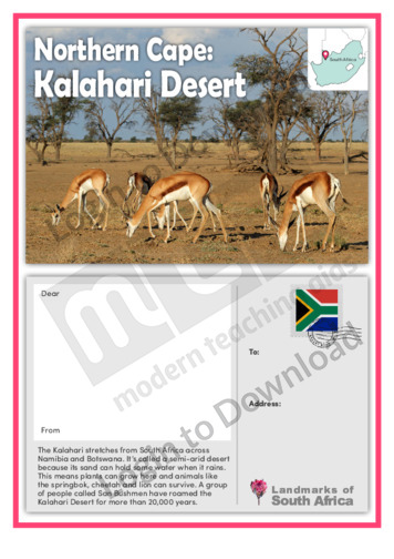Northern Cape: Kalahari Desert
