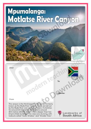 Mpumalanga: Motlatse River Canyon