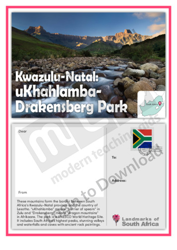 Kwazulu-Natal: Ukhahlamba Drakensberg Park