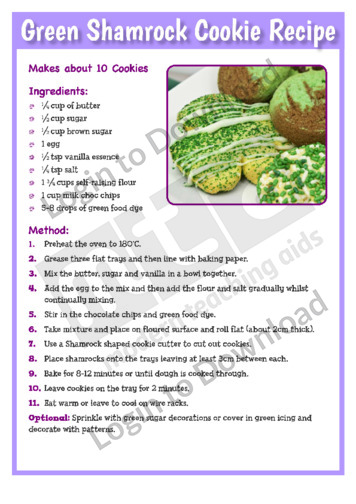 Green Shamrock Cookie Recipe