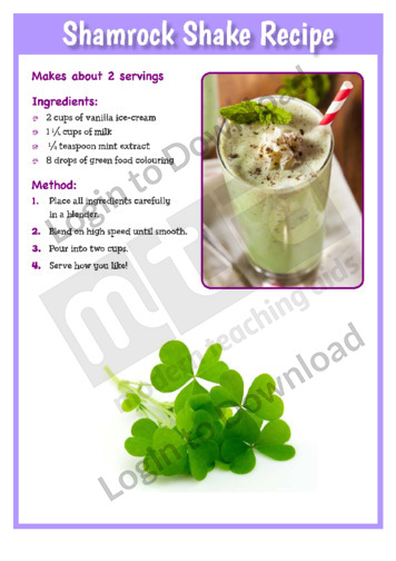 Shamrock Shake Recipe