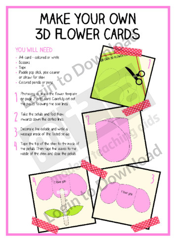 Make Your Own 3D Flower Cards