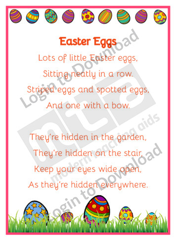 Easter Eggs Poem