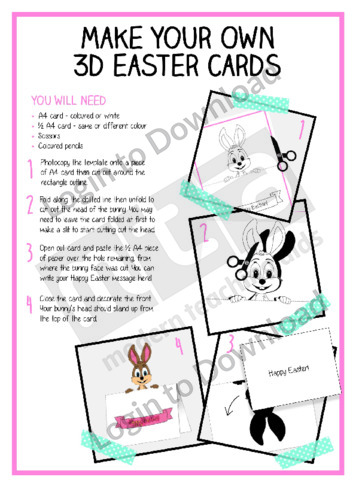 Make Your Own 3D Easter Cards