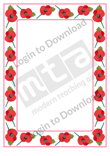 Remembrance Page Border
