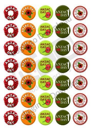 ANZAC Stickers