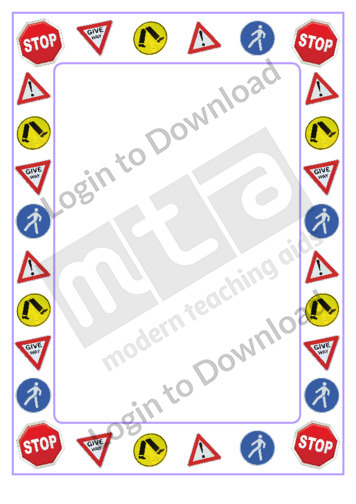 Road Sign Page Border