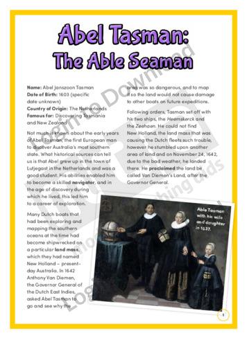 Abel Tasman: The Able Seaman