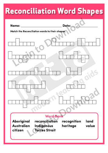 Reconciliation Word Shapes