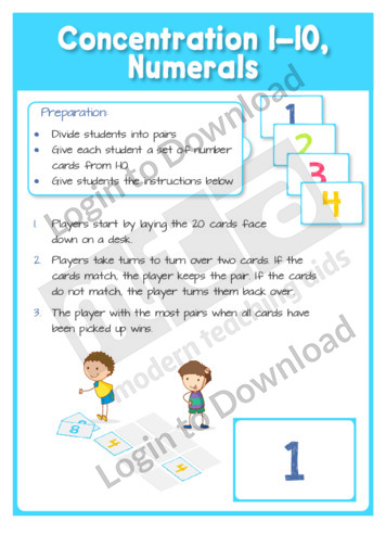 Concentration 1-10, Numerals