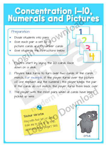 Concentration 1-10, Numerals and Pictures