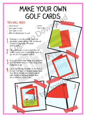 Make Your Own Golf Cards