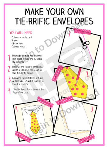 Make Your Own Tie-rrific Envelopes