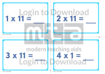 11 Times Table Cards (2)