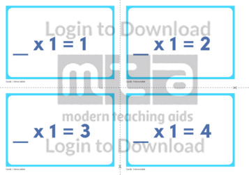 1 Times Table Missing Number Cards (2)