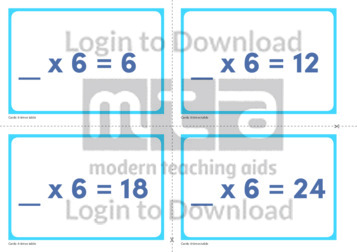 6 Times Table Missing Number Cards (2)