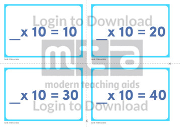 10 Times Table Missing Number Cards (2)
