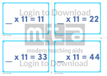 11 Times Table Missing Number Cards (2)