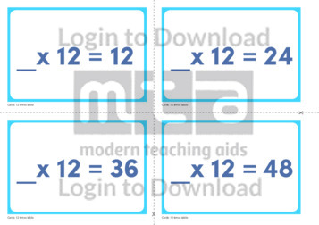 12 Times Table Missing Number Cards (2)