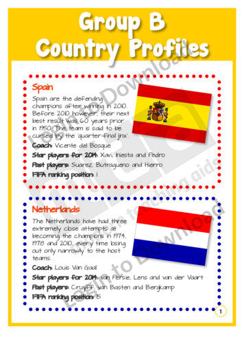 Group B Country Profiles