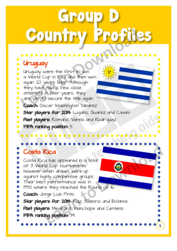 Group D Country Profiles