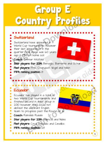 Group E Country Profiles