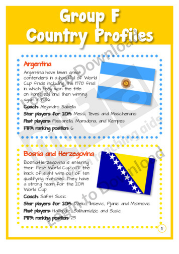 Group F Country Profiles