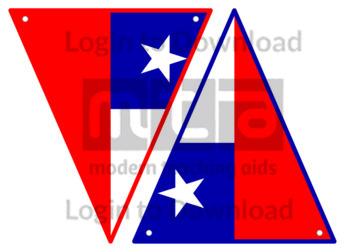 Chilean Flag Bunting