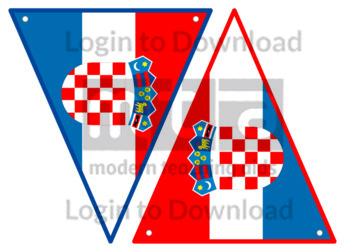 Croatian Flag Bunting