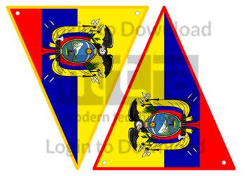 Ecuadorian Flag Bunting