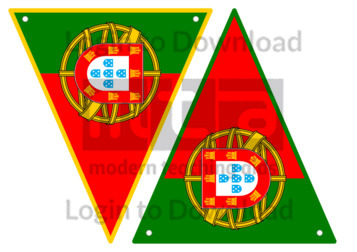 Portuguese Flag Bunting